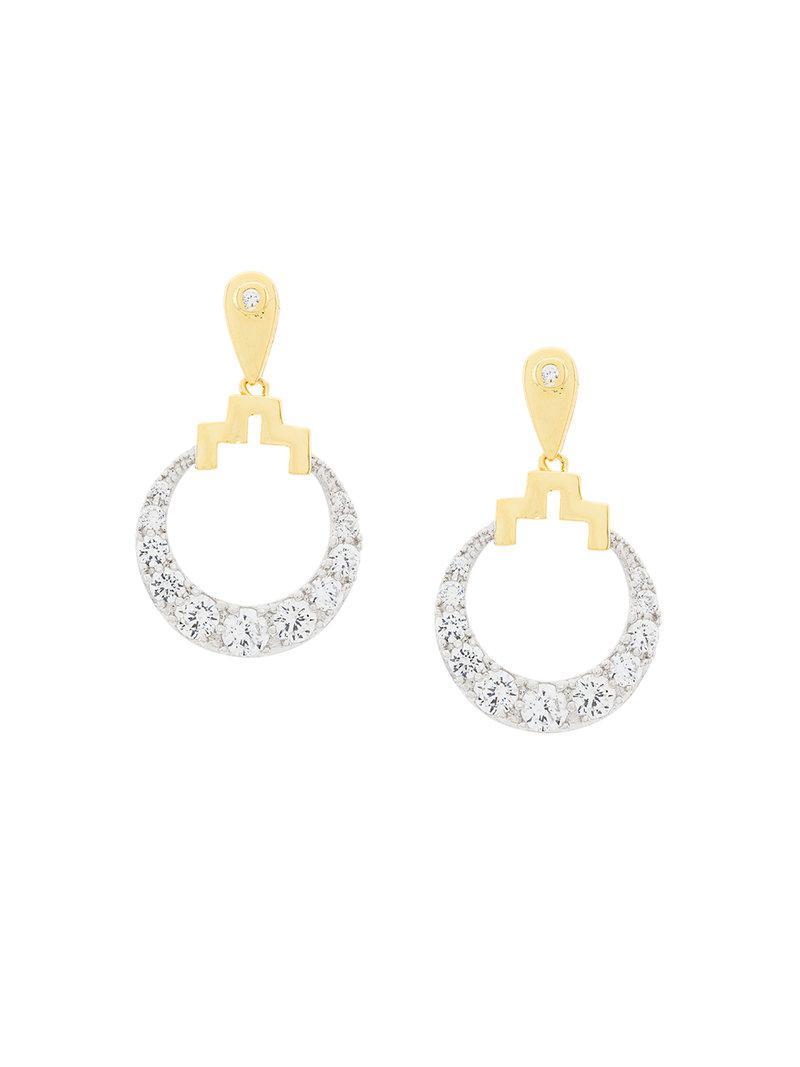 V JEWELLERY Naya earrings - Metallic 5jPgG78eZ