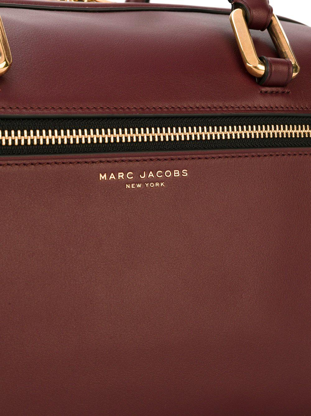 Marc Jacobs Leather 'west End' Bauletto Tote in Pink & Purple (Pink)