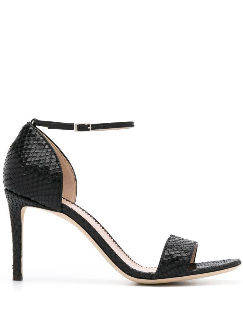 4fe5b038c90f Lyst - Giuseppe Zanotti Snakeskin Effect Sandals in Black