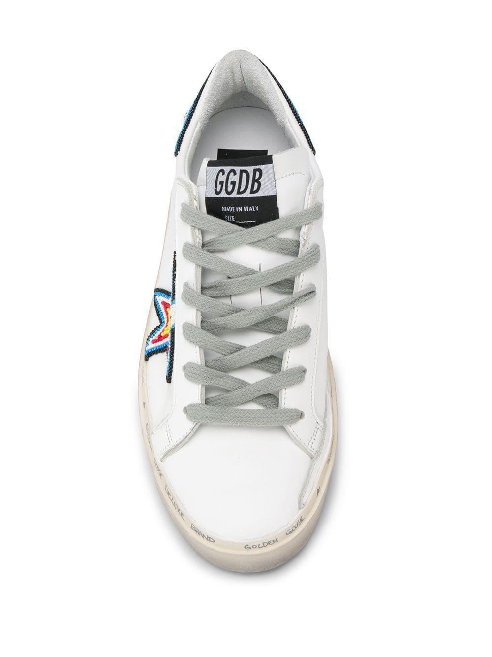 Zapatillas Hi Star Golden Goose Deluxe Brand de Pluma de oca de color Blanco
