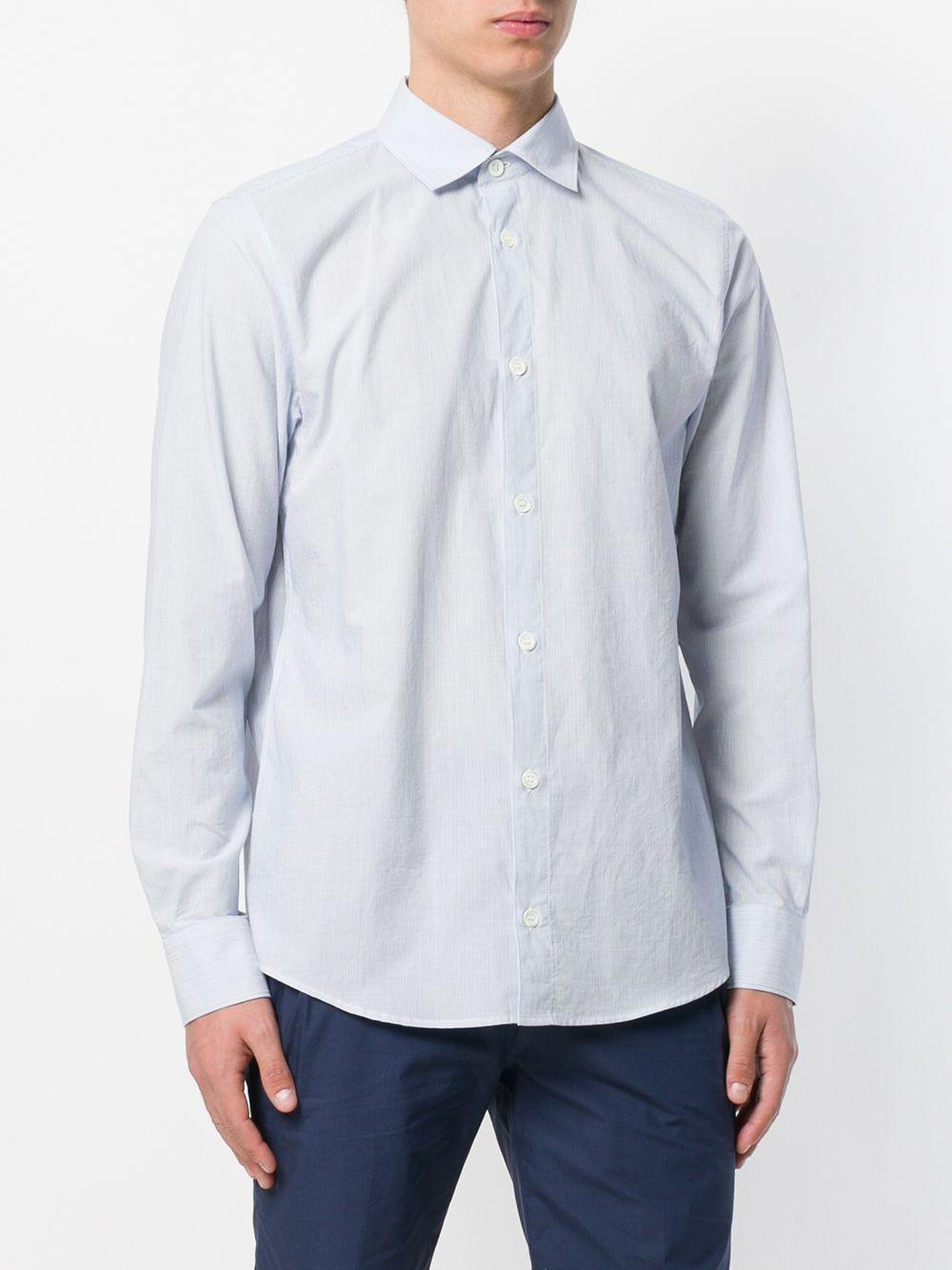 A.P.C. Katoen Overhemd Met Lange Mouwen in het Blauw voor heren