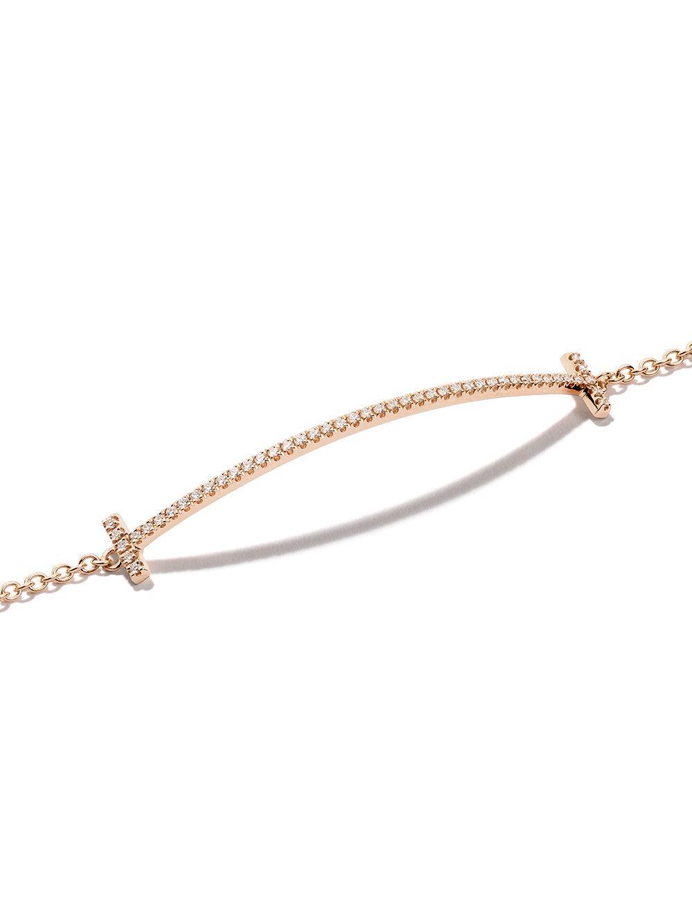 7f350ff75 Tiffany & Co. 18kt Rose Gold Tiffany T Smile Diamond Bracelet in ...