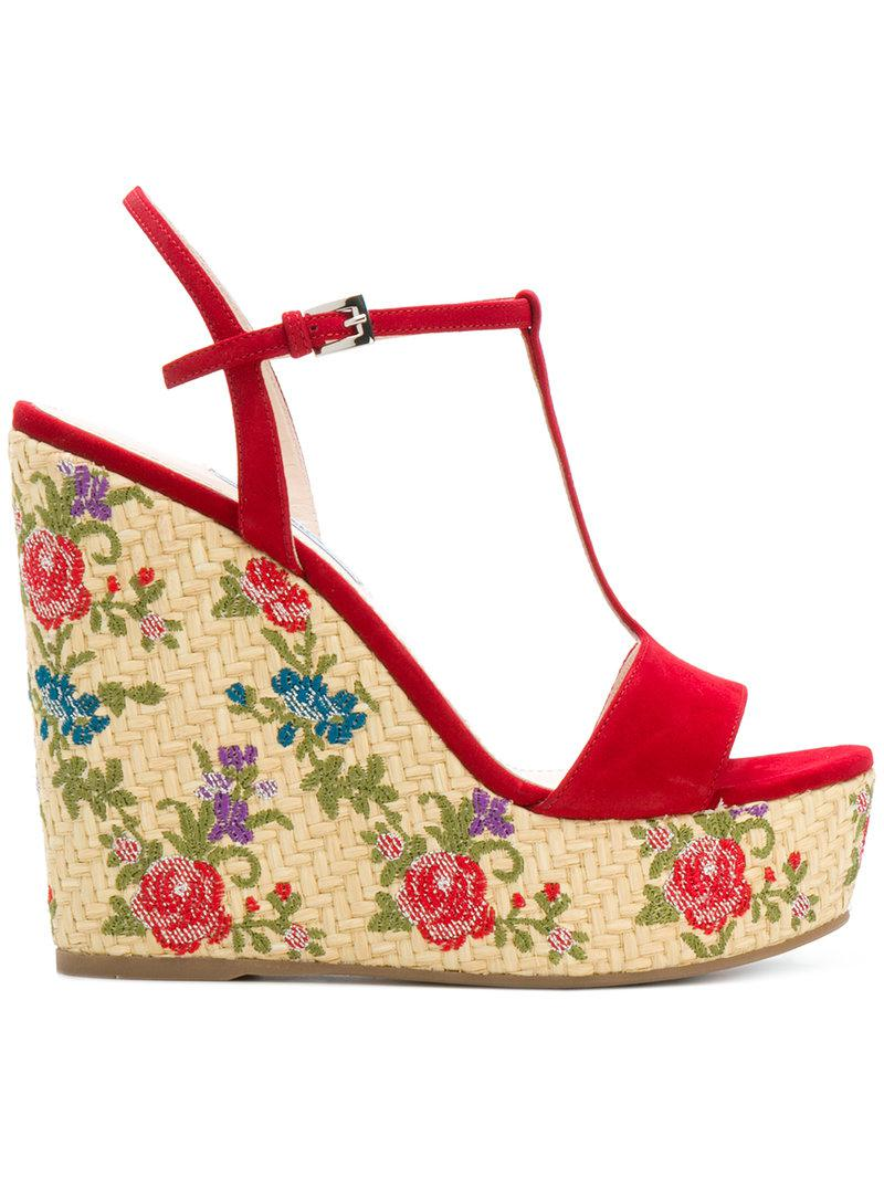 Sandales Jacquard Floral Prada - Polychromes gVJsfvjgA9