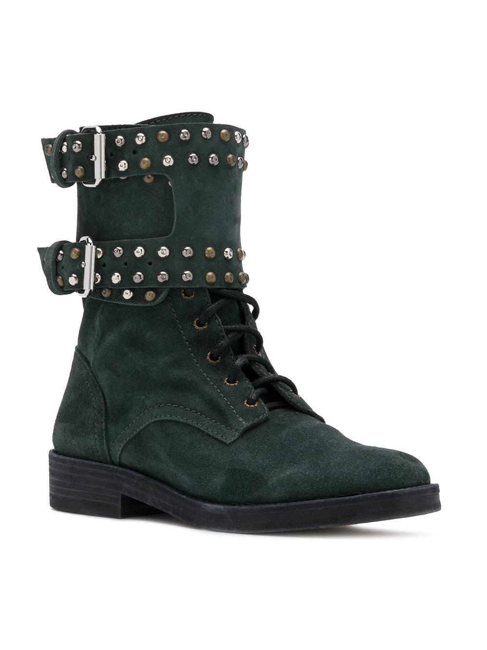 Isabel Marant Leather Teylon Ankle Boots in Black