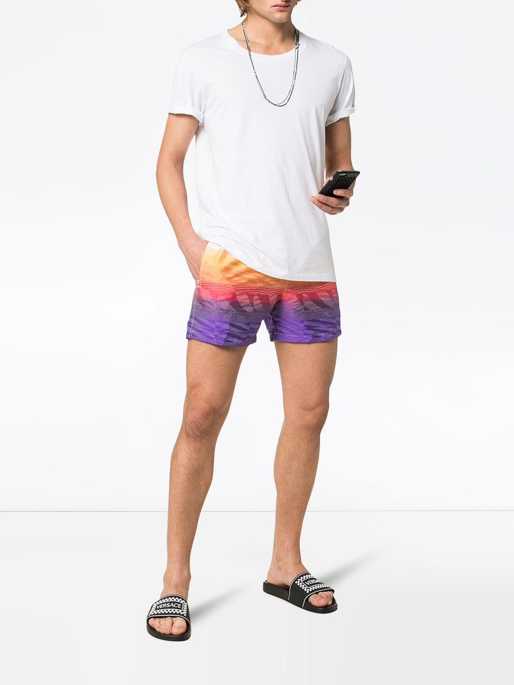 fe237d6fd9 Missoni Logo Patch Printed Swim Shorts for Men - Save 3% - Lyst