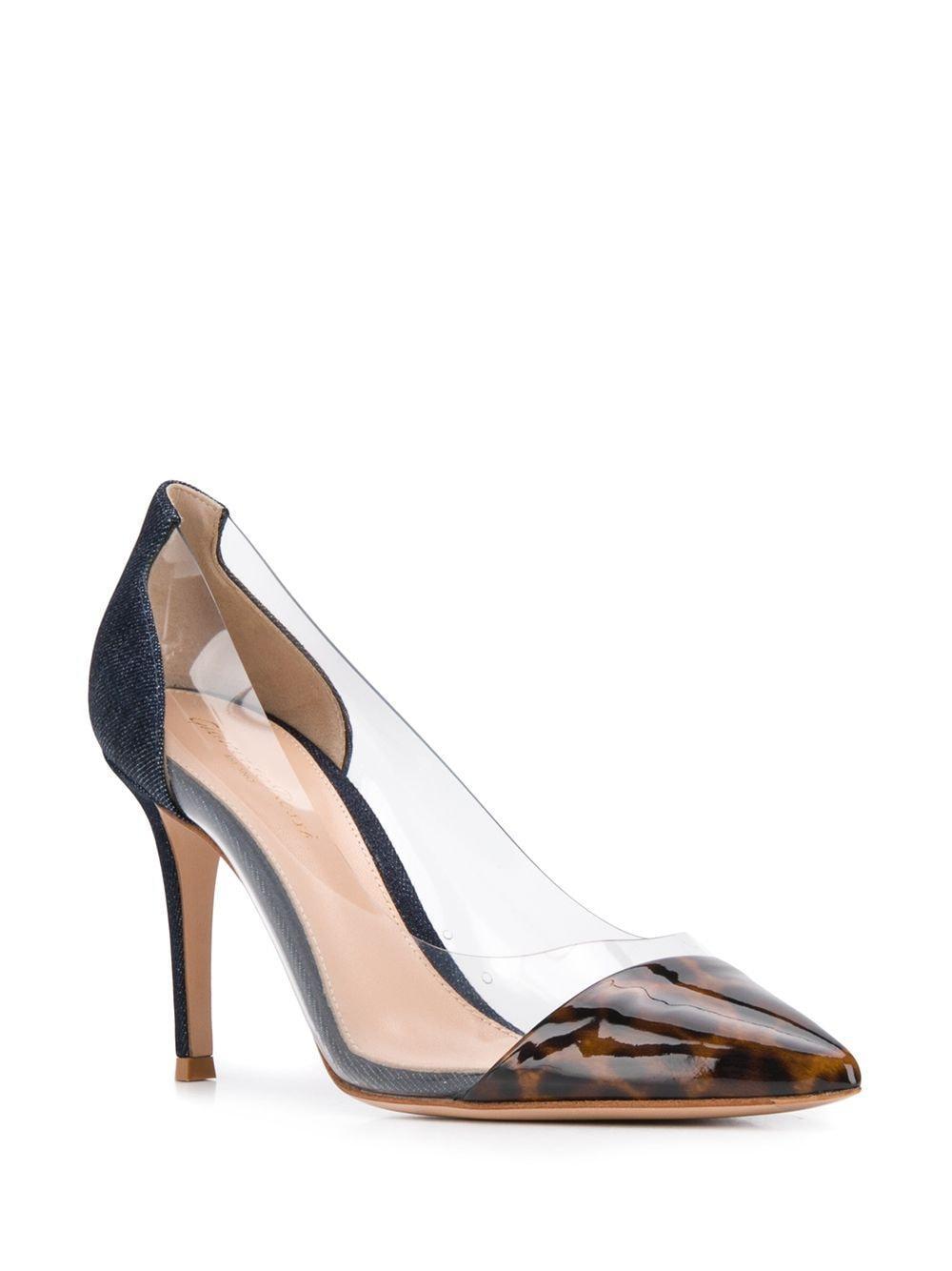 Zapatos con tacón alto y puntera en punta Gianvito Rossi de Denim de color Marrón