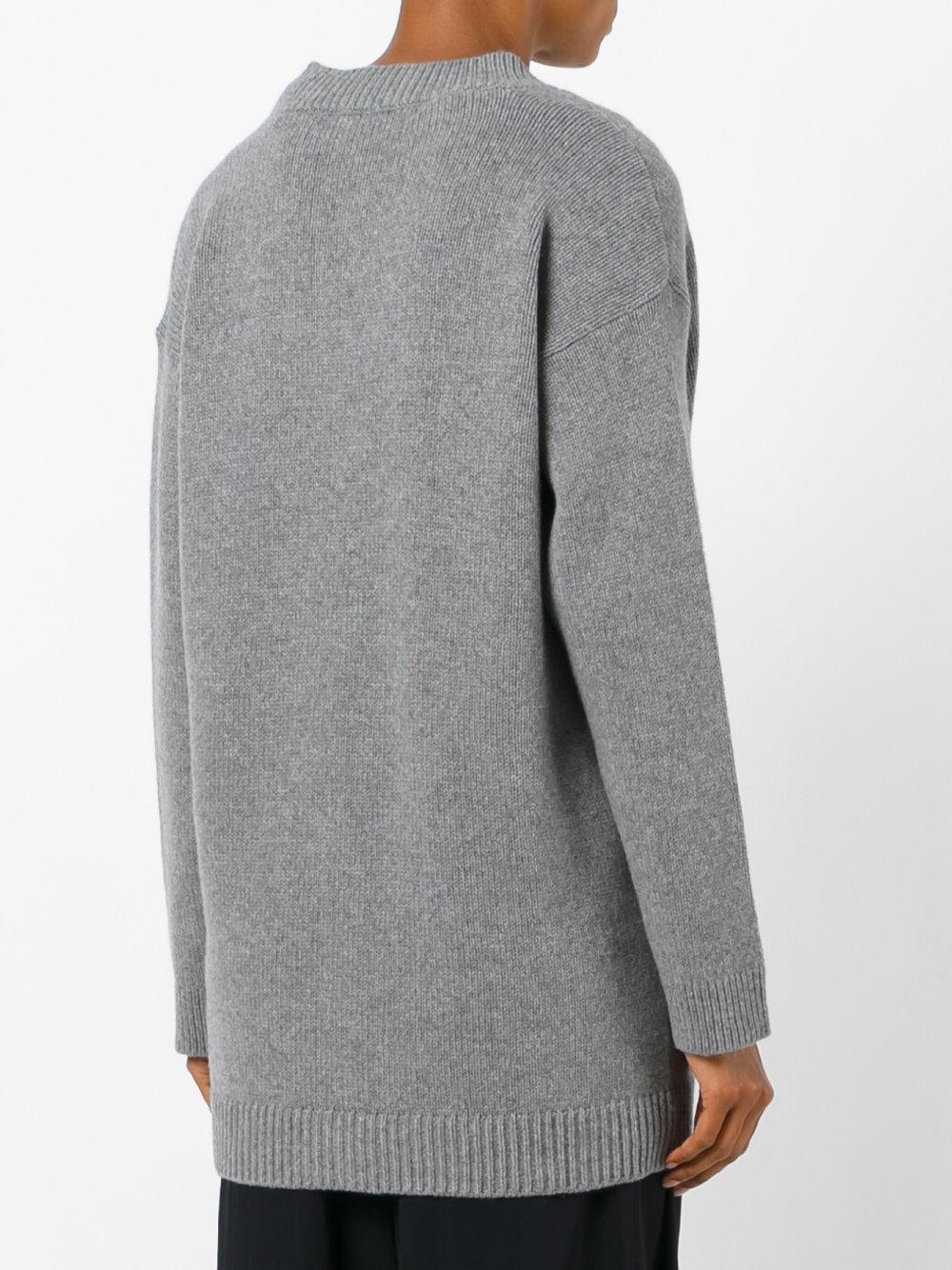 lyst dorothee schumacher oversized cardigan in gray. Black Bedroom Furniture Sets. Home Design Ideas