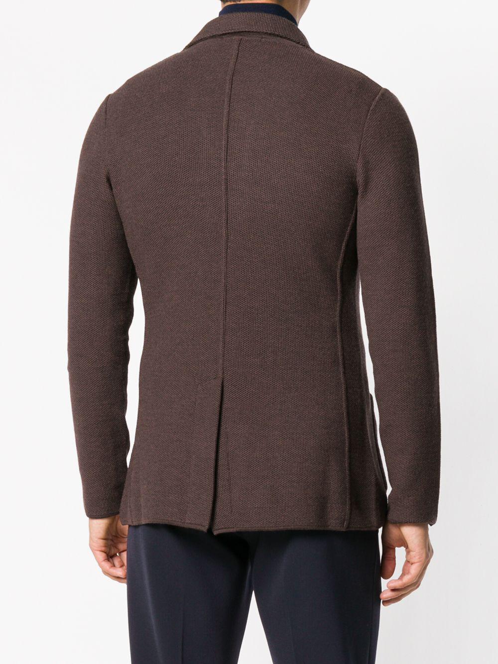 Lardini Wool Blazer Cardigan in Brown for Men