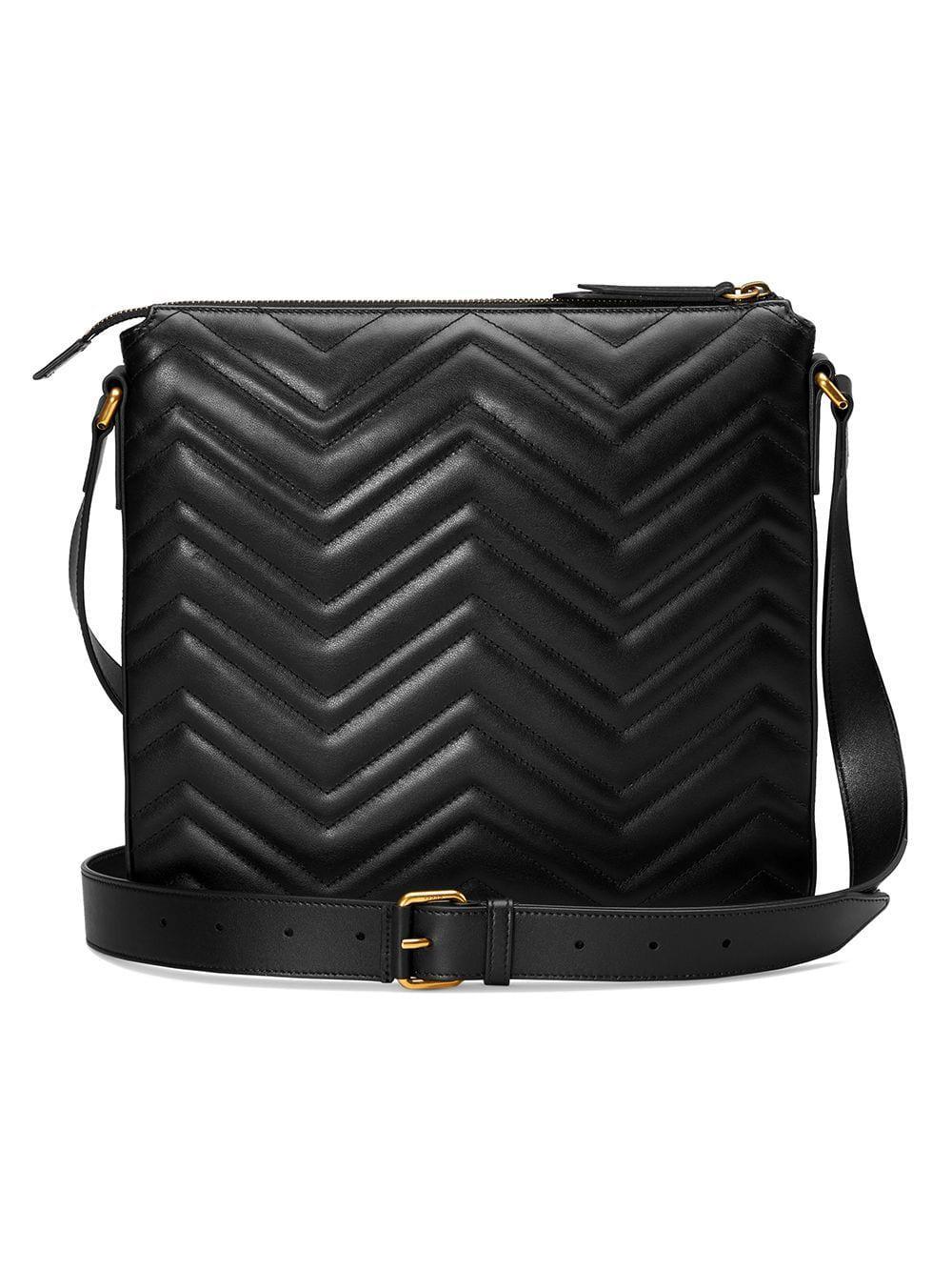 Gucci - Black GG Marmont Messenger Bag for Men - Lyst. View fullscreen 56d8e4f547117