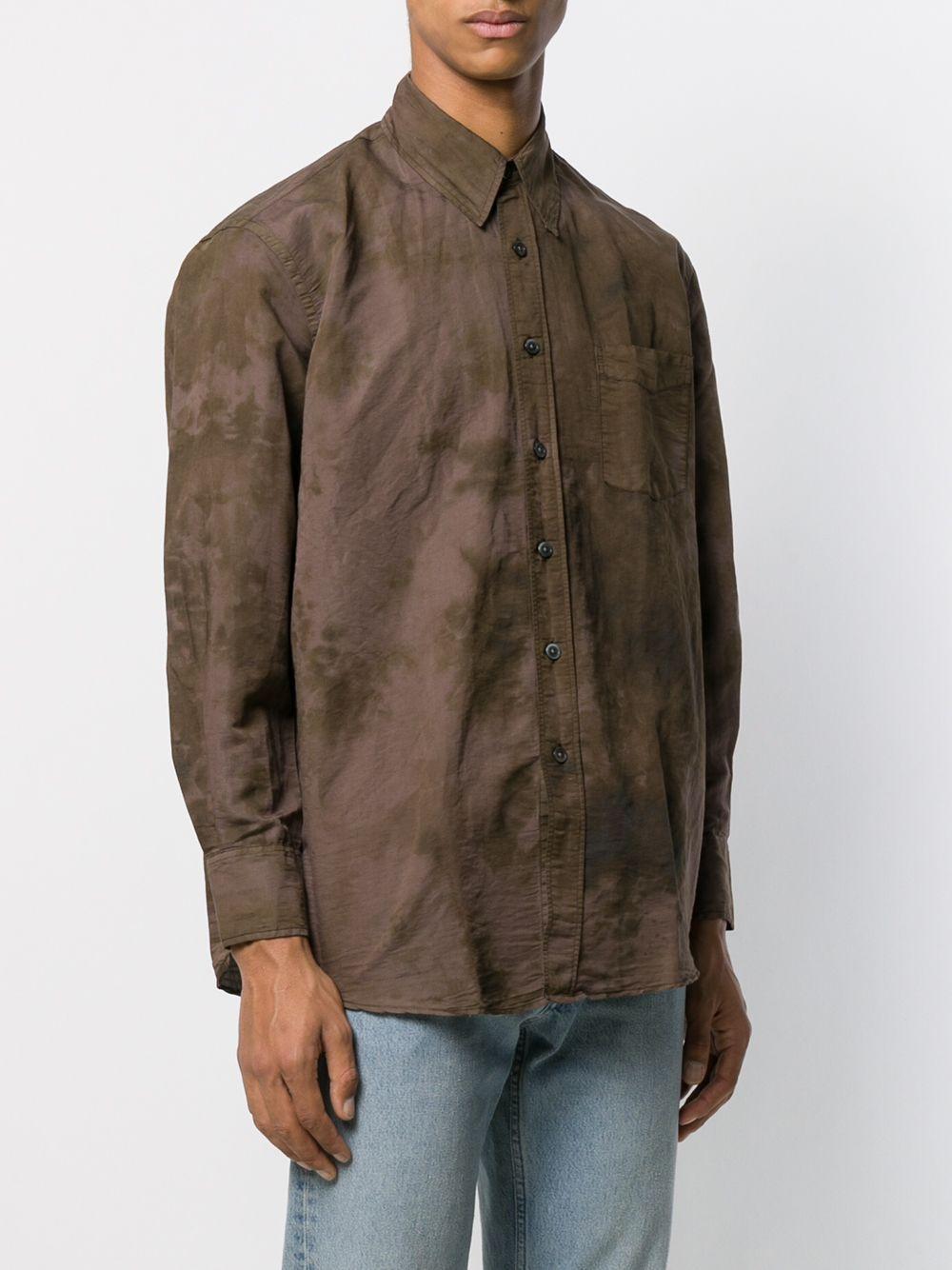 Our Legacy Katoen Overhemd Met Tie-dye Print in het Bruin voor heren