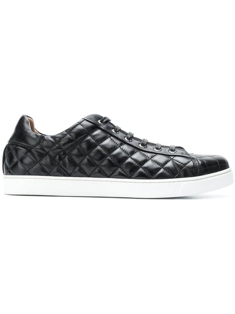 quilted lace-up sneakers - Black Gianvito Rossi rhcJtVWbI