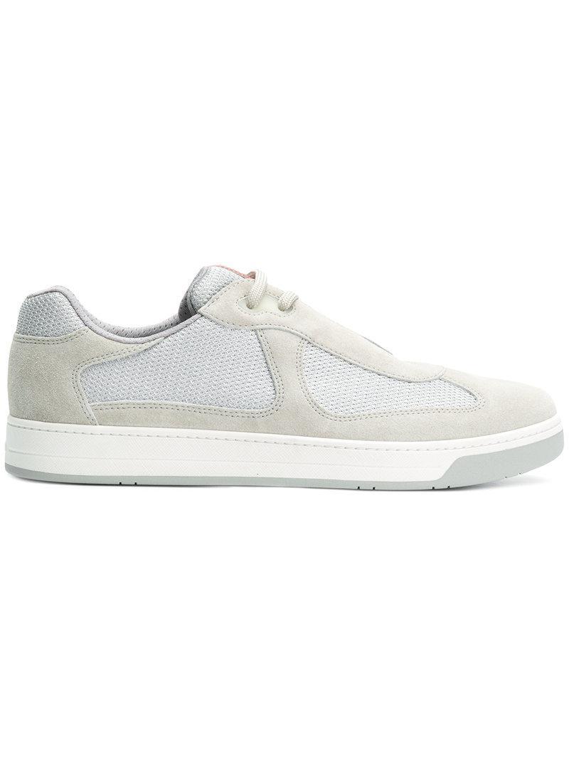 Hemp sneakers with logo insert Prada QoqJc