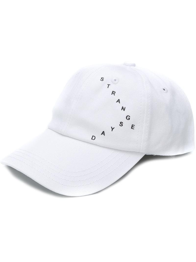 596173b94dce1 Raf Simons Slogan Front Cap in White for Men - Save ...