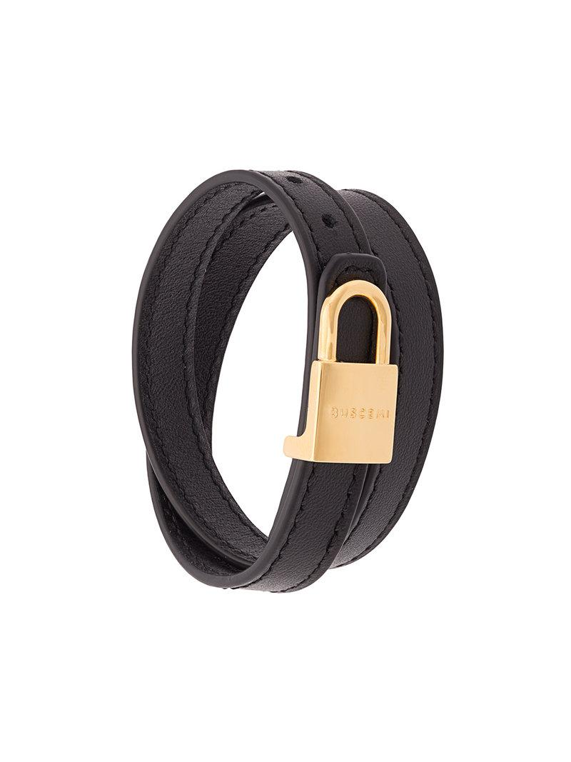 Buscemi engraved padlock cuff - Black KtcHgX7Ce