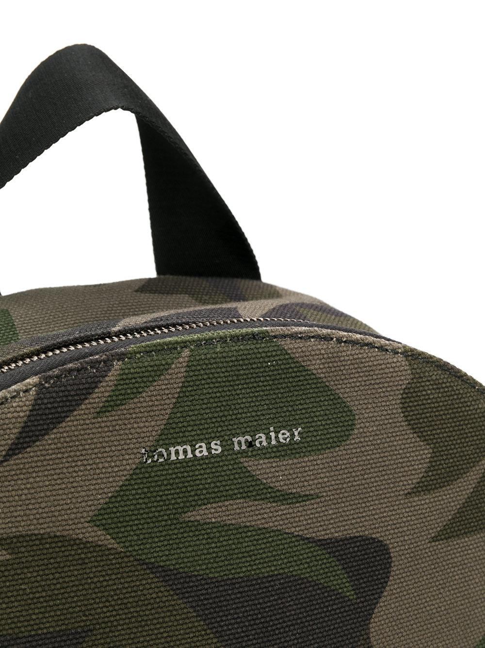 Tomas Maier Canvas Camo Backpack in Green for Men