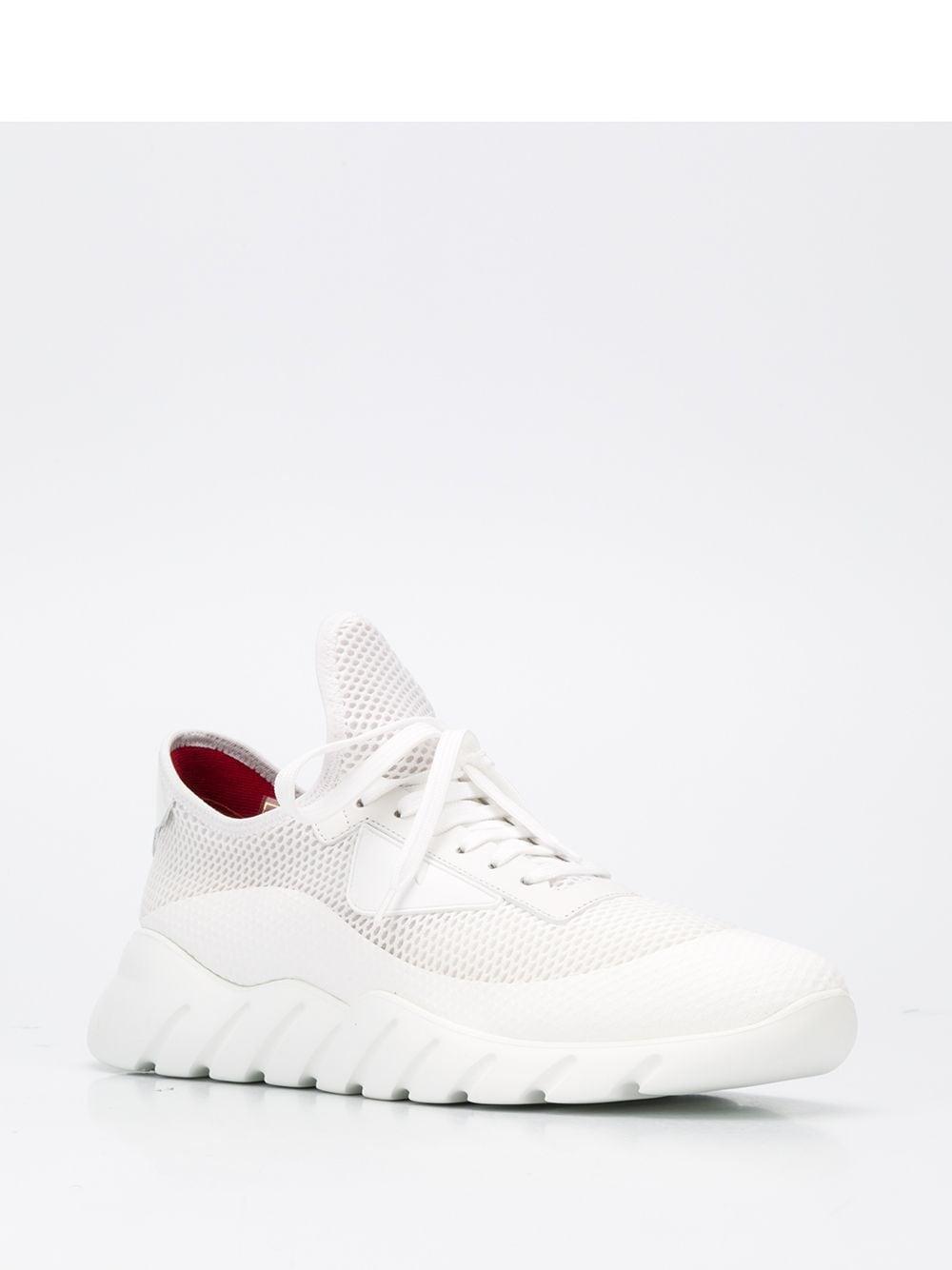 Zapatillas bajas de malla Fendi de Cuero de color Blanco para hombre