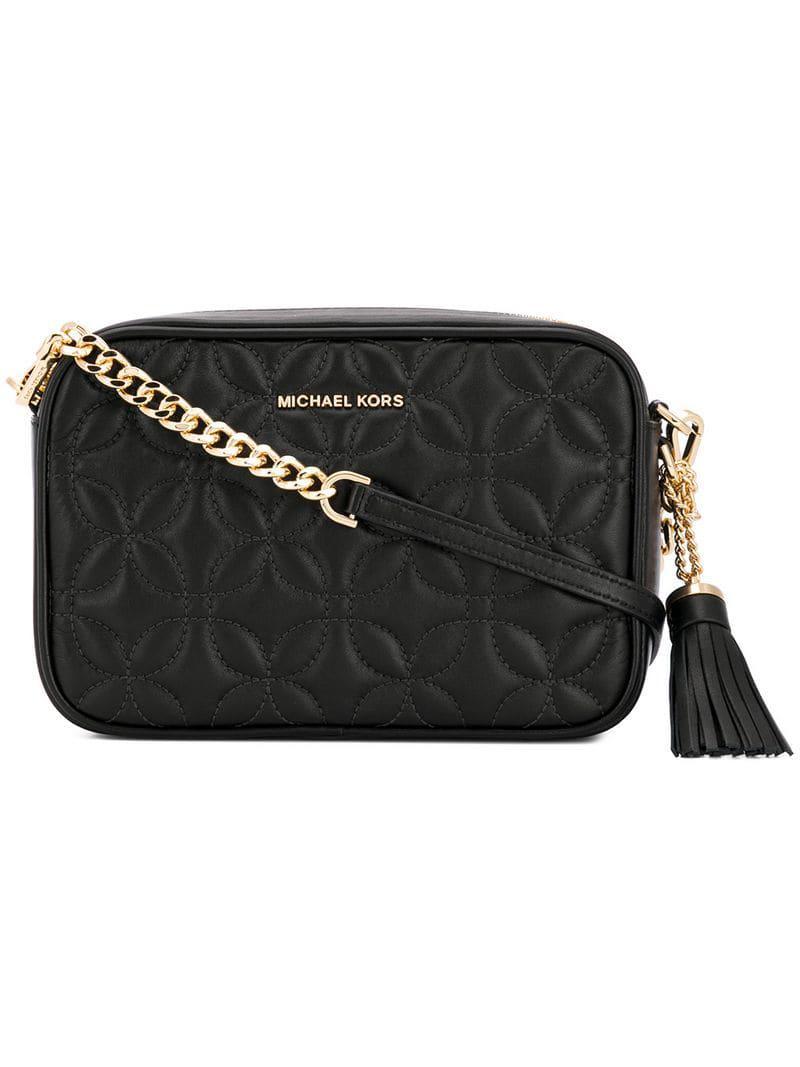 69e55e0a9e53 MICHAEL Michael Kors Ginny Crossbody Bag in Black - Save 12% - Lyst