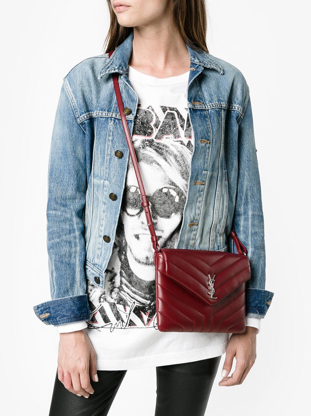 Lyst Saint Laurent Toy Lou Lou Shoulder Bag In Red