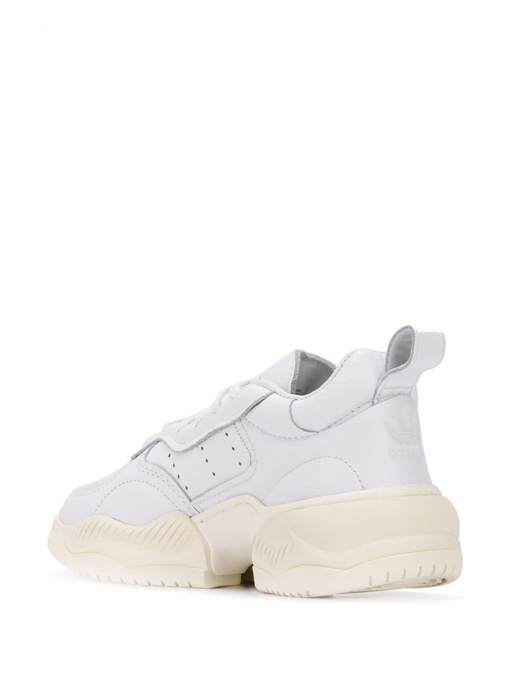 Zapatillas con cordones adidas de Caucho de color Blanco