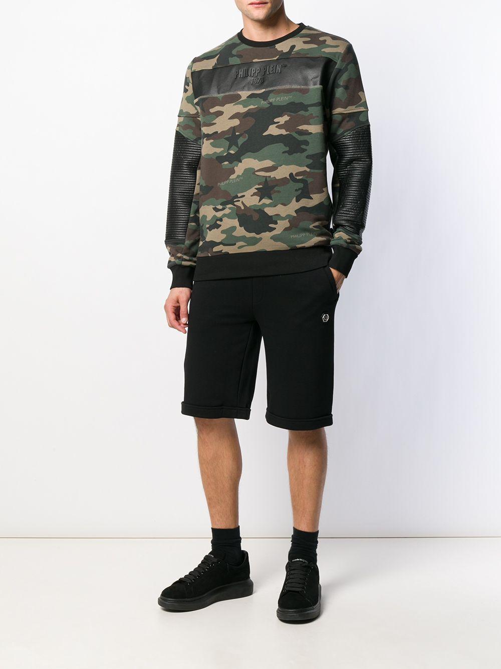 Philipp Plein Sweater Met Camouflageprint in het Groen voor heren
