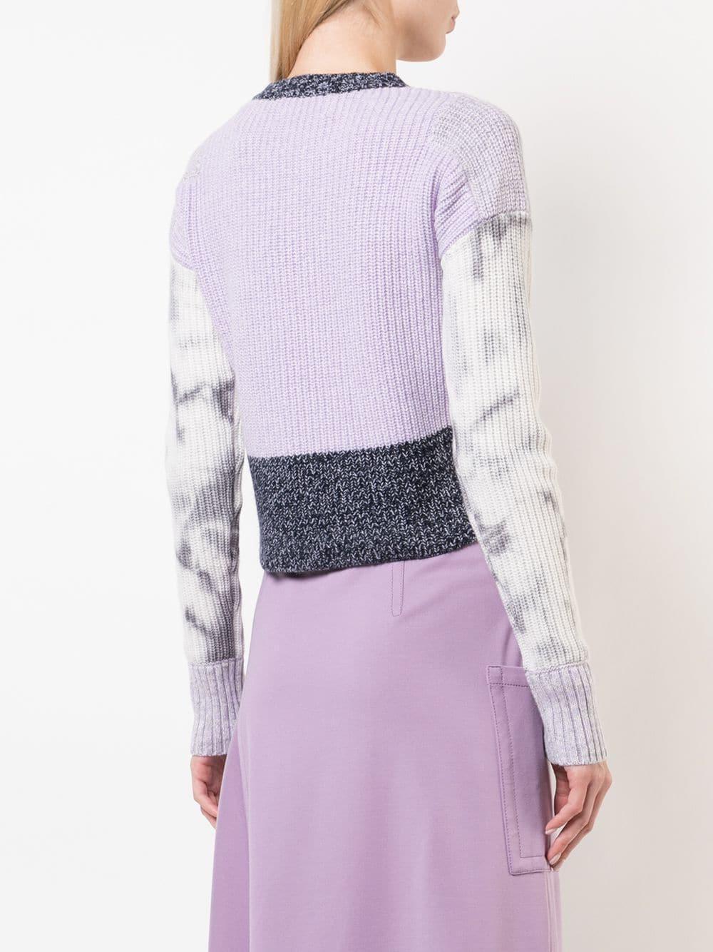 Cropped Jordan Fullscreen Knitted View Blue Lyst Sweater Contrast Zoe qtv4x7Cv