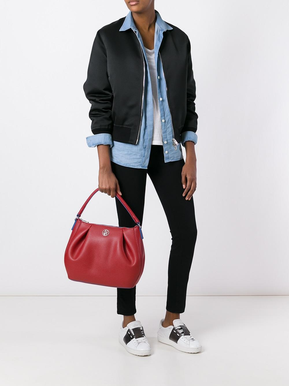 05c6dd1a791f Lyst - Armani Jeans -  matt  Shoulder Bag - Women - Polyester pvc ...