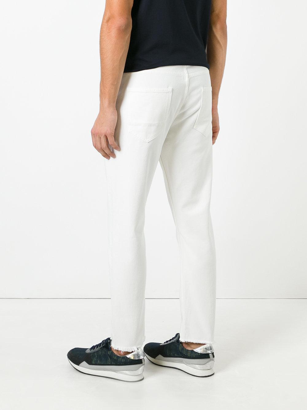 Golden Goose Deluxe Brand Denim Raw Edge Hem Jeans in White for Men