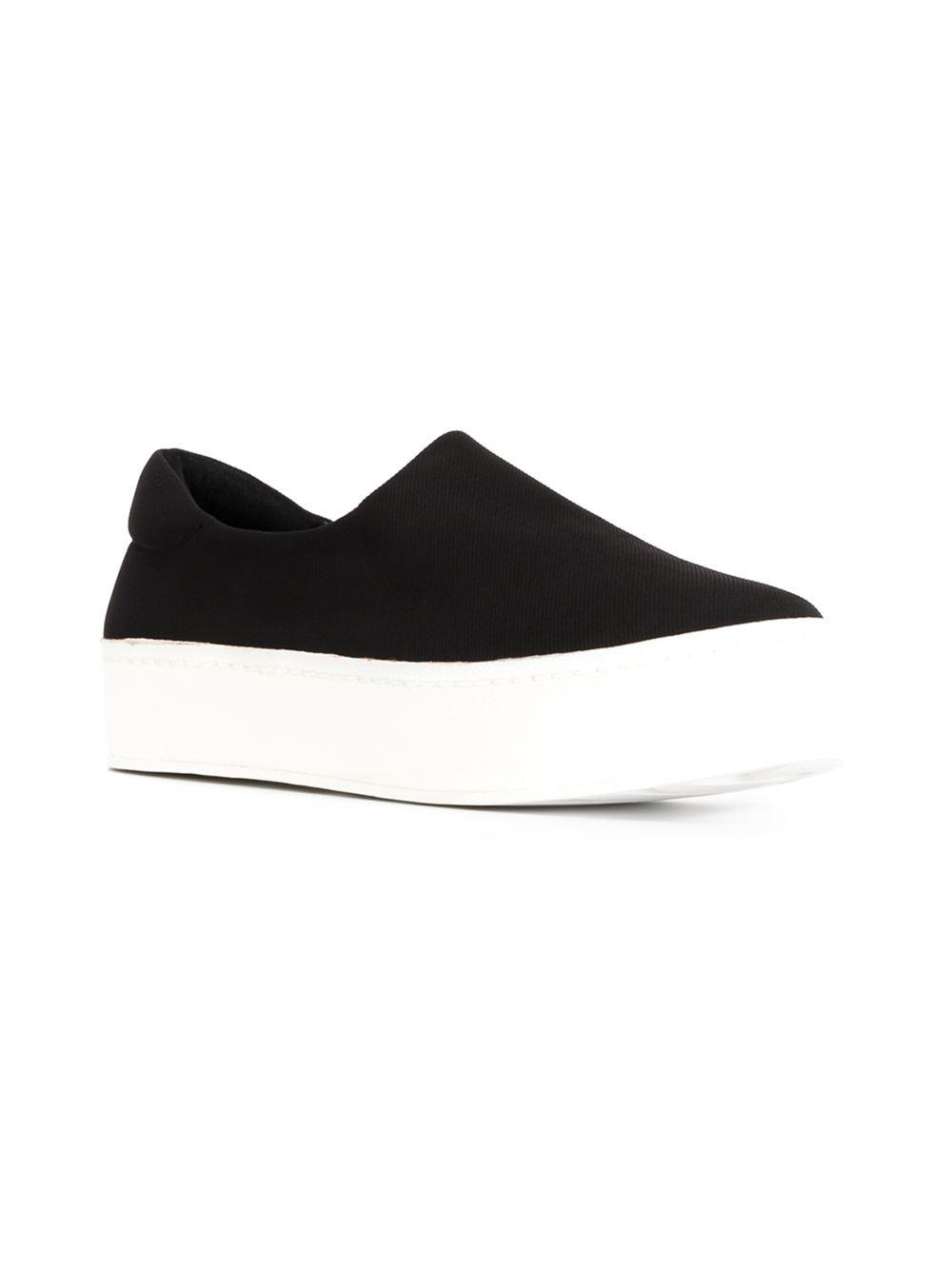 Opening Ceremony Canvas Slip-on Sneakers in Black