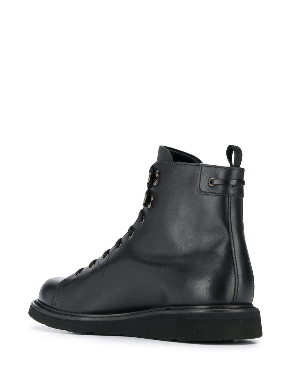 Botines con cordones Car Shoe de Caucho de color Negro para hombre