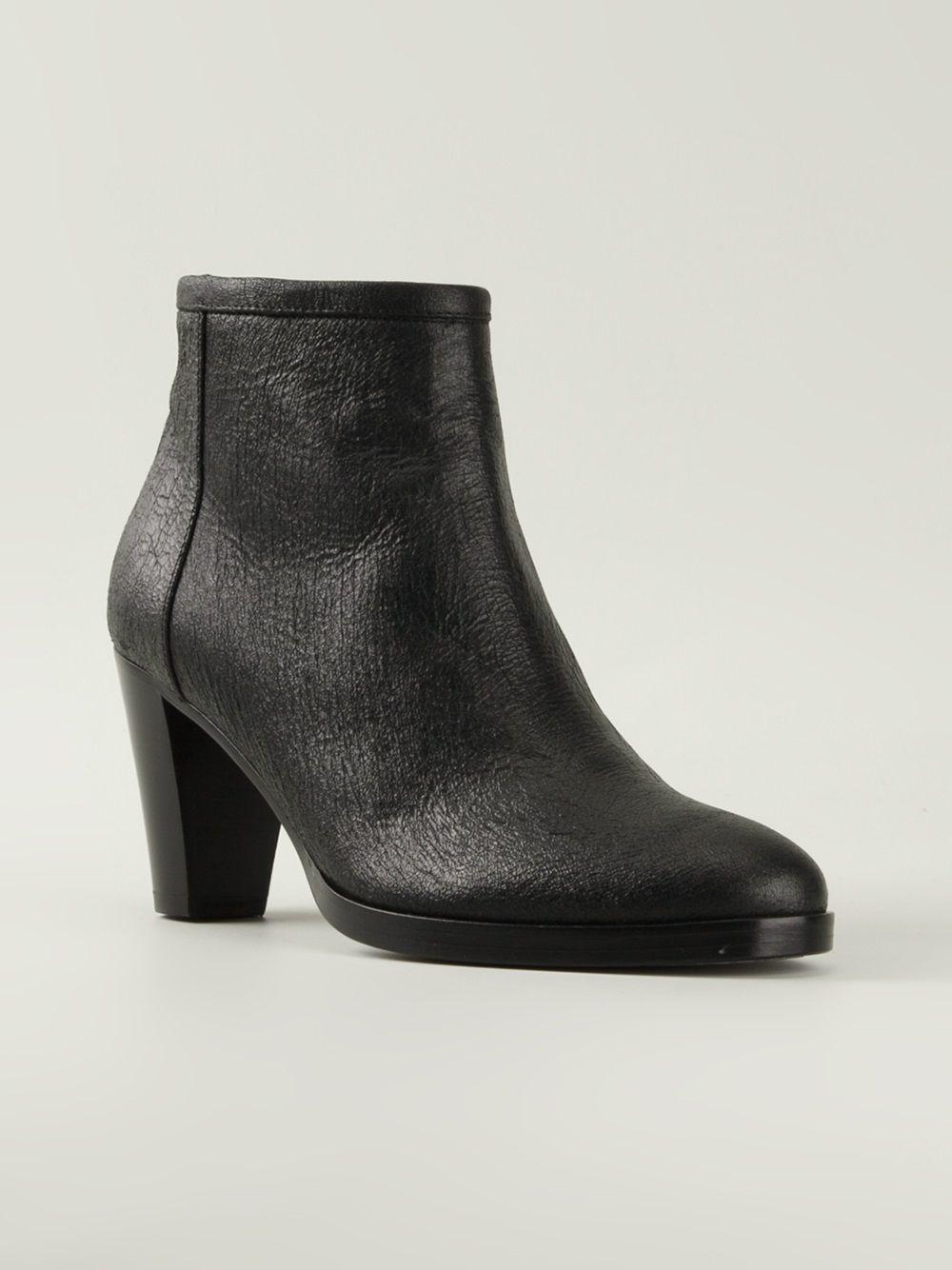 A.F.Vandevorst Leather '161x3766' Boots in Black