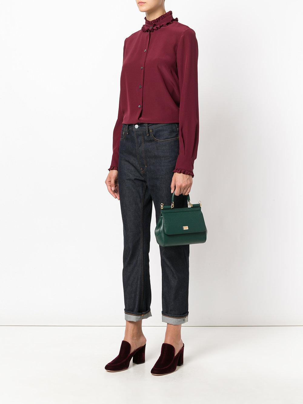 45f20e54a2 Lyst - Dolce   Gabbana Small Sicily Bag in Green
