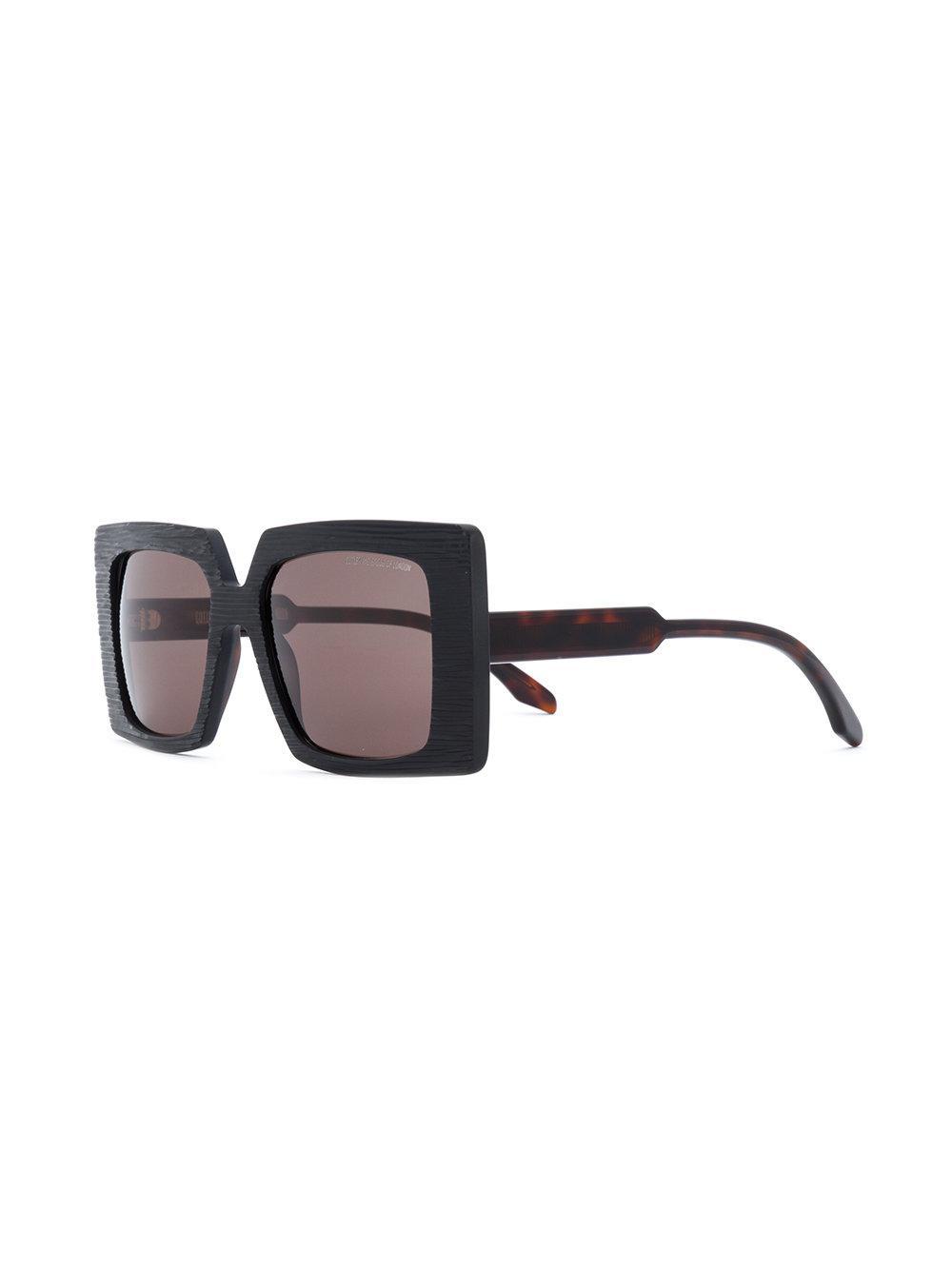 Cutler & Gross Oversized Square Sunglasses in Black