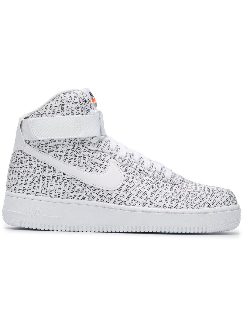 9a2d2c2e9ed2 Lyst - Nike Air Force 1 High Lx Sneakers in White for Men