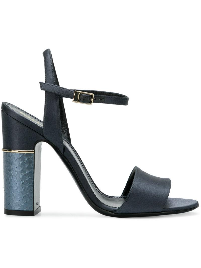 textured-heel sandals - Blue Pollini Deals Outlet With Paypal Pay With Paypal Cheap Price Szp8r4T