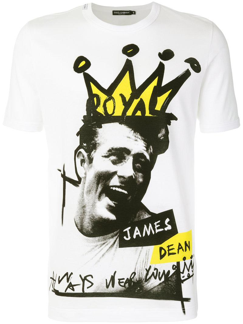 a7bdc1680e246f Dolce & Gabbana James Dean T-shirt in White for Men - Lyst