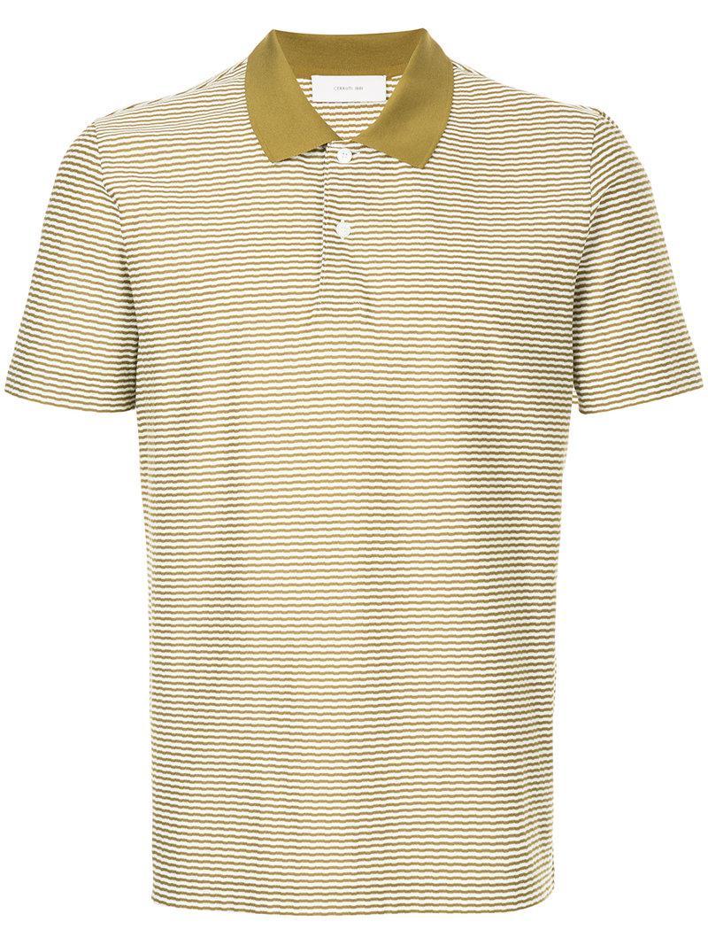 e2b9289d Lyst - Cerruti 1881 Striped Polo Shirt in Green for Men