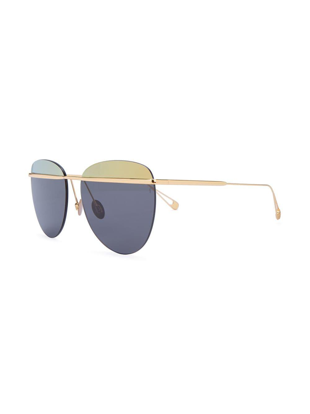 Sunday Somewhere Aviator Sunglasses in Metallic