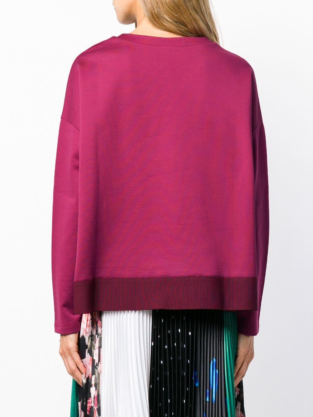 Logo patch sweatshirt Moncler en coloris Rose