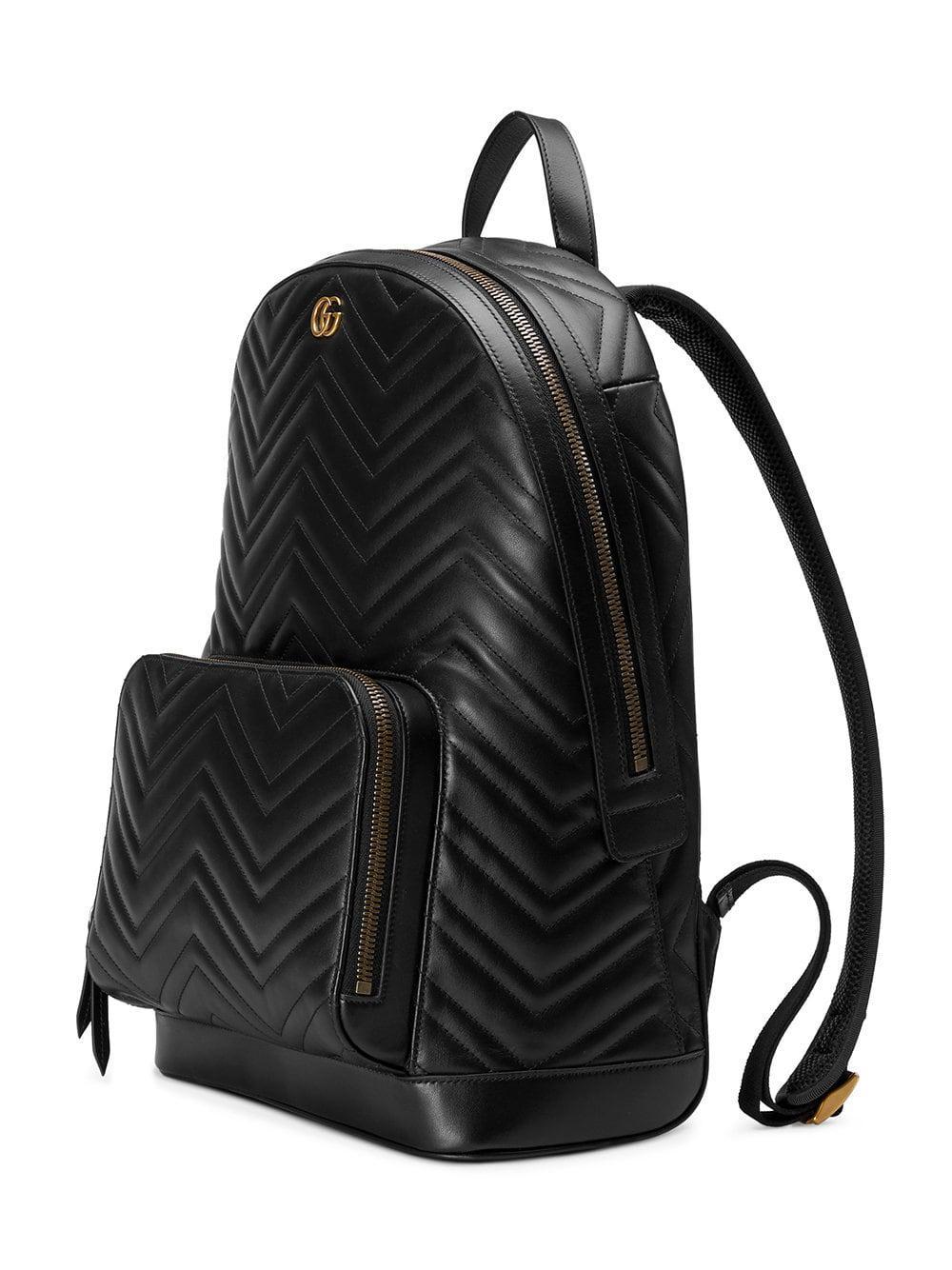 38005a9e7d47 Gucci - Black GG Marmont Matelassé Backpack for Men - Lyst. View fullscreen
