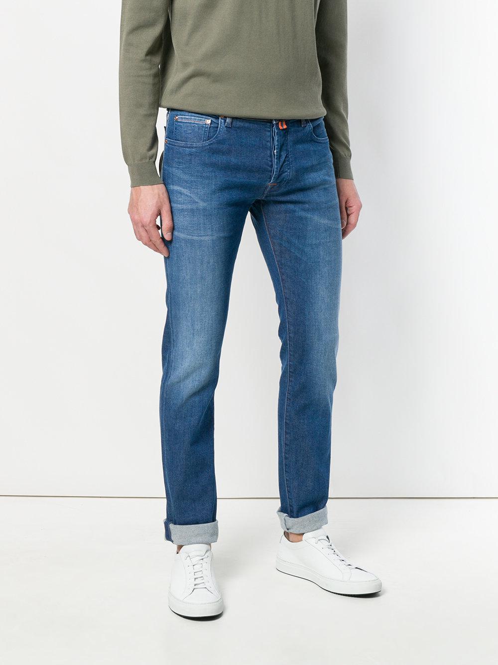 Jacob Cohen Slim Fit Denim Trousers in Blue for Men