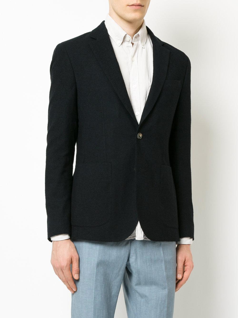 Hardy Amies Wool Classic Blazer in Blue for Men
