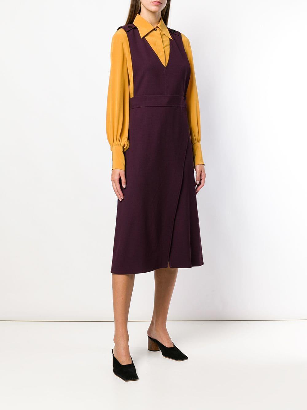 Robe sans manches Soie Victoria, Victoria Beckham en coloris Rose