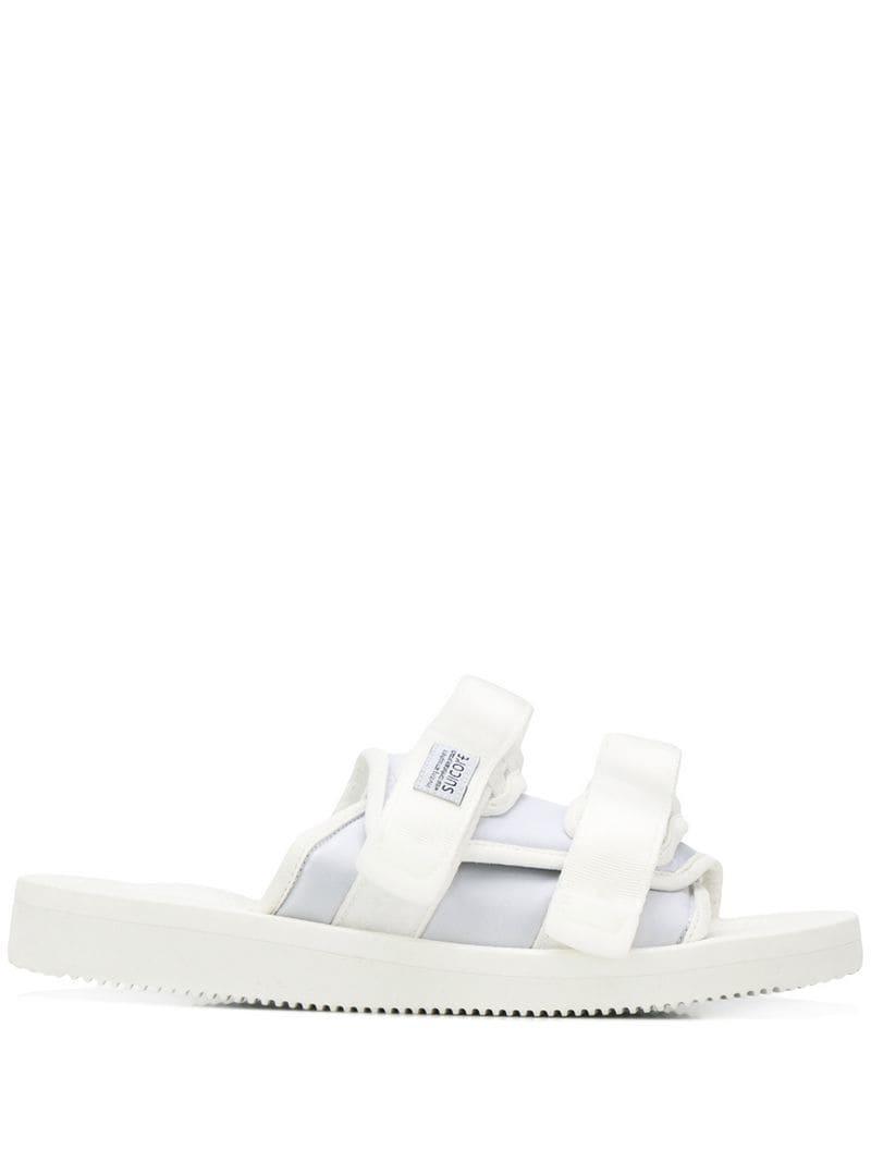 1f250c8e5a7 Lyst - Suicoke White Strapped Sliders in White for Men