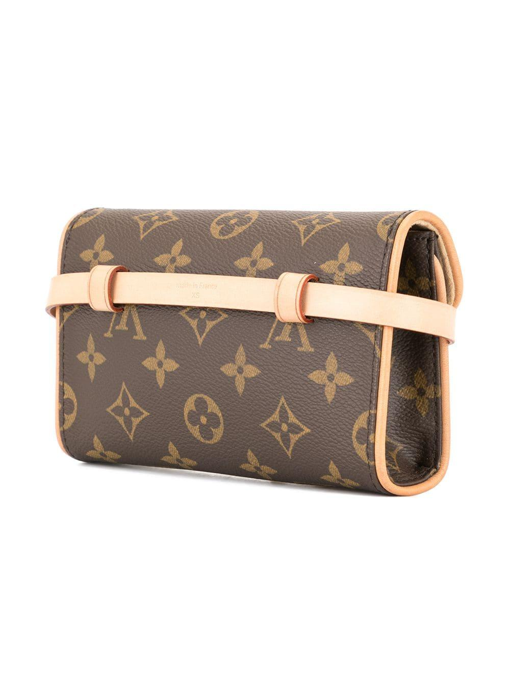 50adff64 Louis Vuitton Pre-Owned Florentine Pochette Xs Belt Bag in Brown - Lyst