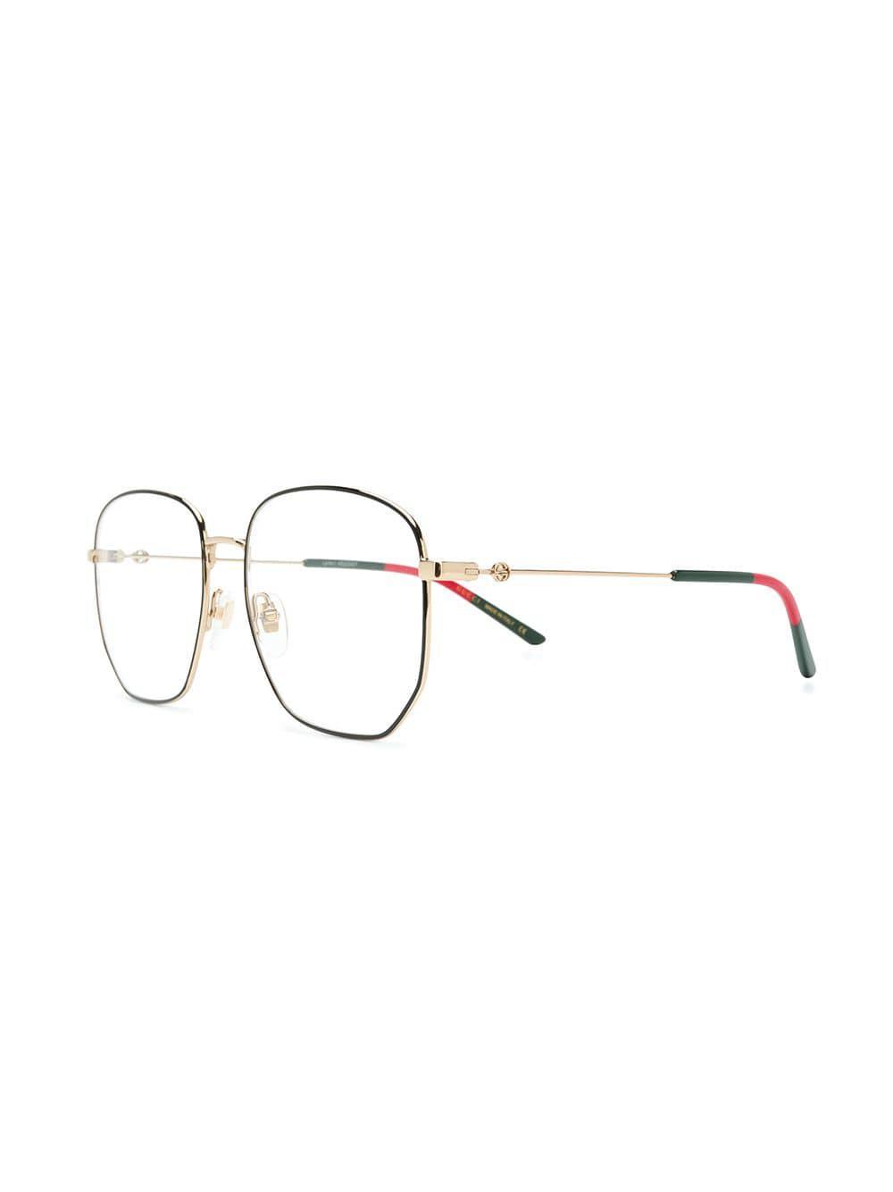 75581d3fa3 Gucci Hexagonal Frame Glasses in Black - Lyst