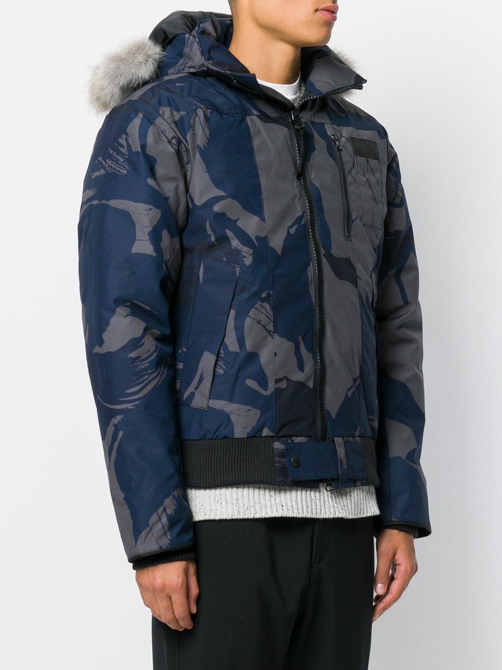 canada goose blue camo jacket