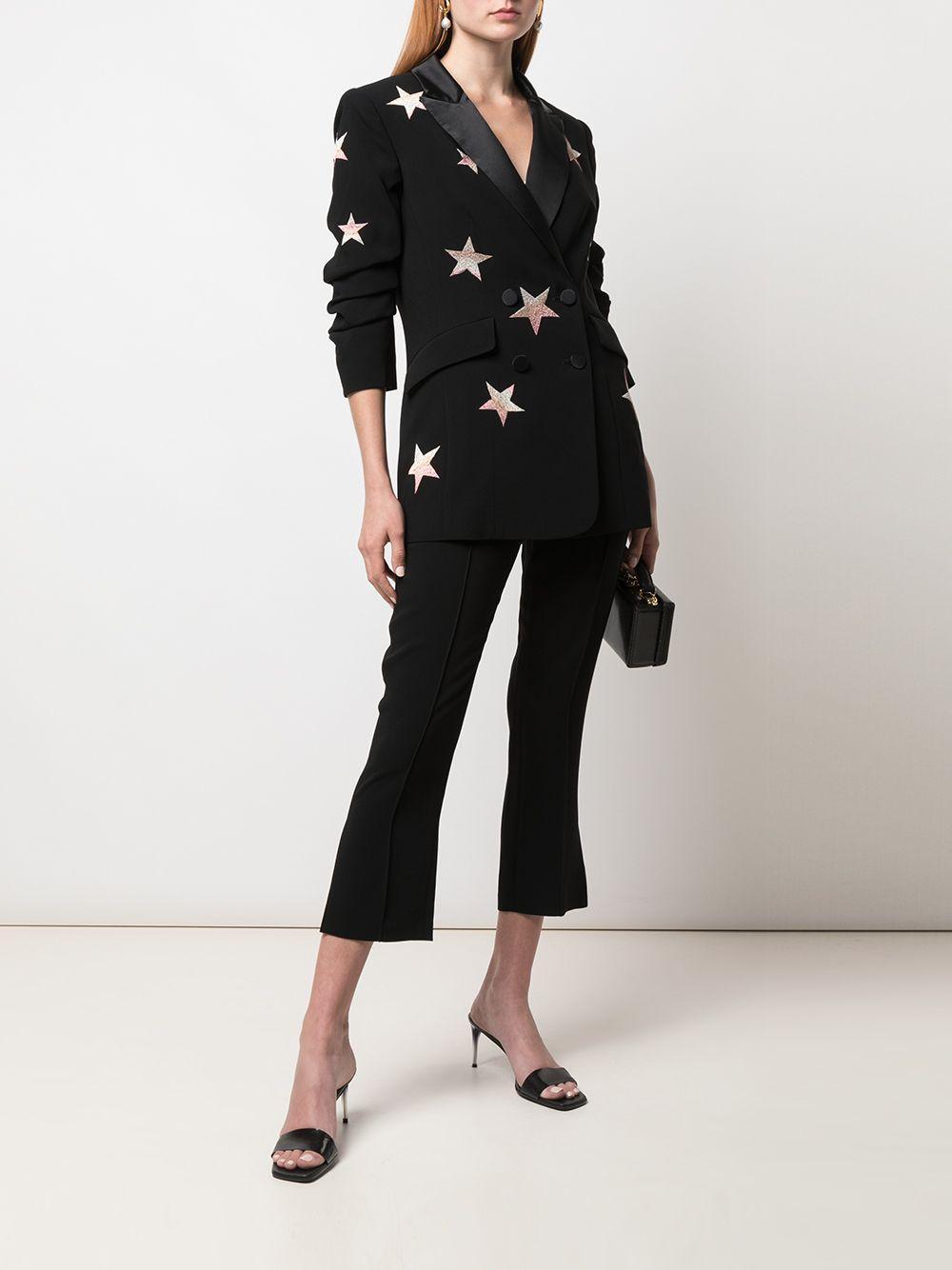 Blazer Lila con estampado de estrellas Cinq À Sept de color Negro