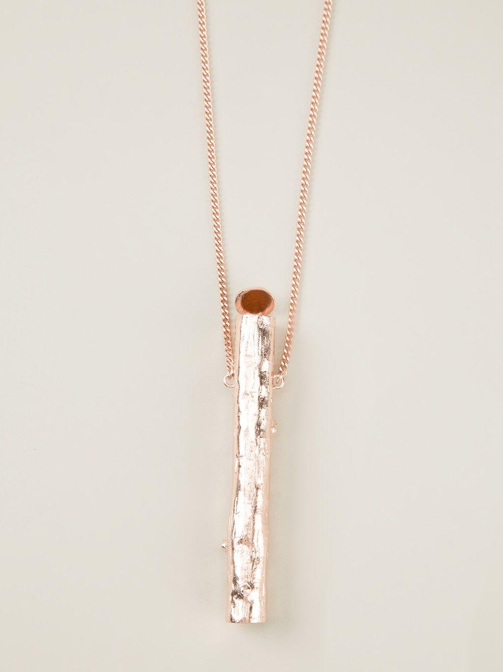 Bjorg 'secret Carrier' Necklace in Metallic (Pink)