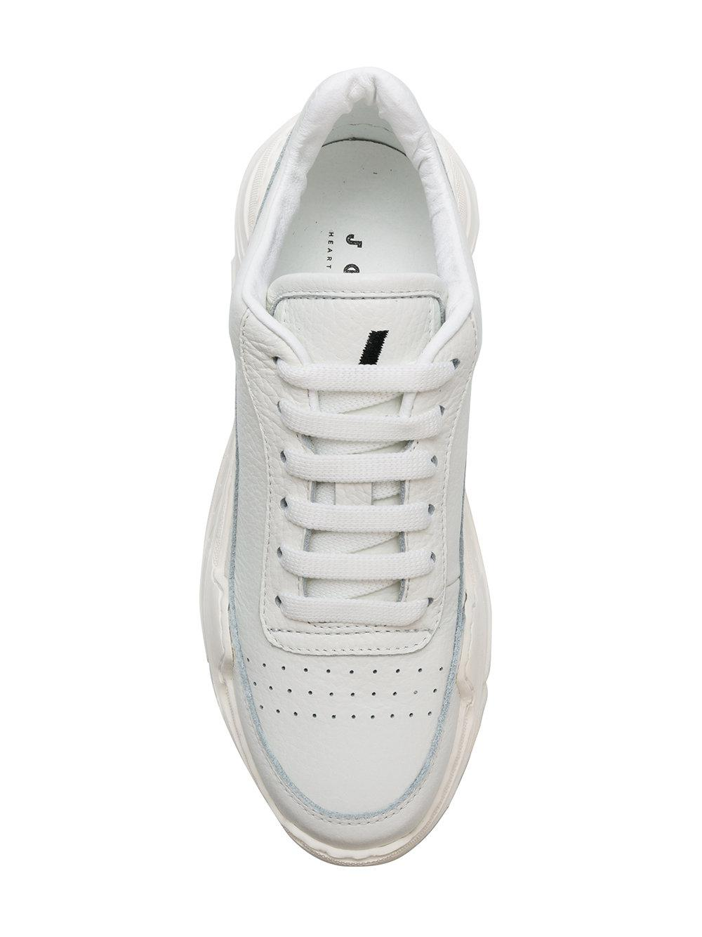 Joshua Sanders Leather Chunky Sole Sneakers in White