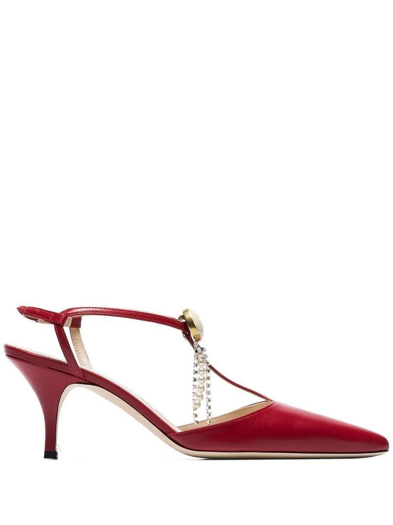 65 Magda Crystal Detail Macedonia Lyst In Red Butrym Pumps k8XnwNO0P